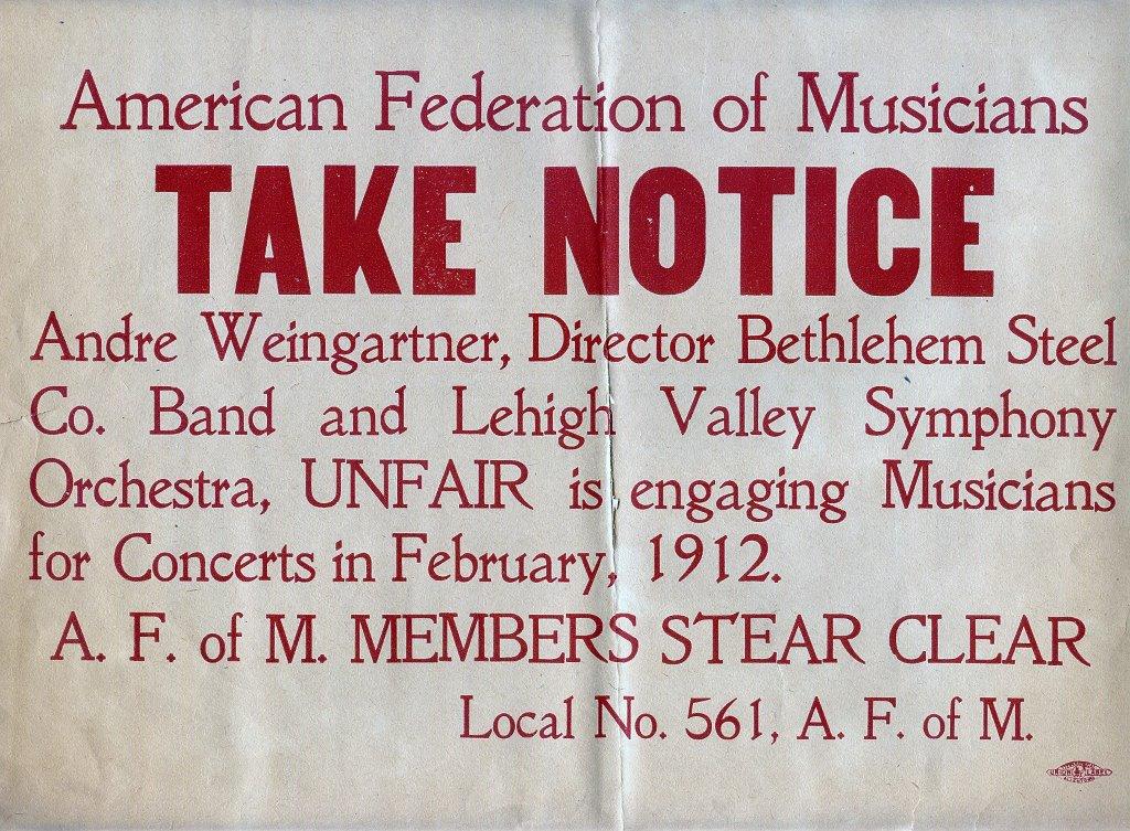 POSTER - MUSICIANS 1912